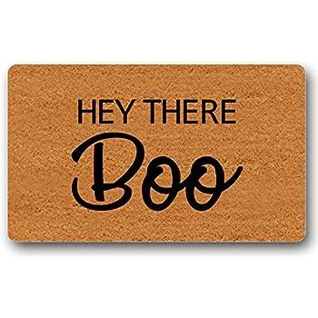 Coir Door Mat Entry Doormat Funny Hey There Pumpkin