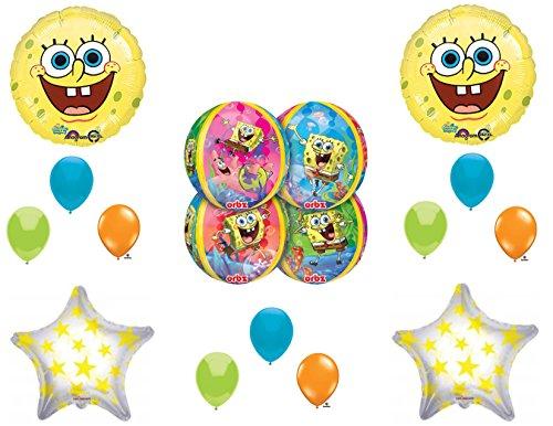 NEW Spongebob Squarepants Orbz Happy Birthday balloons Decorations Supplies -