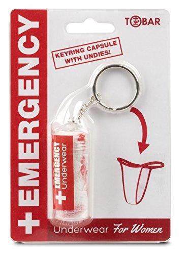 Llavero de emergencia que contiene dentro ropa interior de mujer, divertido regalo de amigo invisible