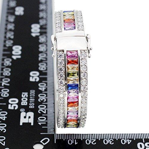 morganite Topaze Grenat Améthyste Rubis aigue-marine Argent sterling Bracelet 20,3cm