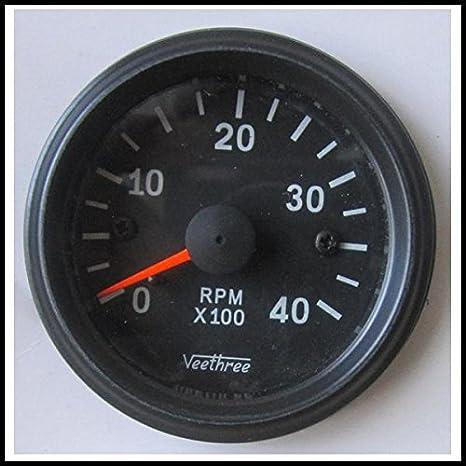 Amazon.com: Veethree 37259 Tachometer 52mm Electronic 0 – 4000 (B/B on gas meter installation diagram, gauge parts, egt gauge diagram, fuel gauge diagram, speakers diagram, gas gauge diagram,