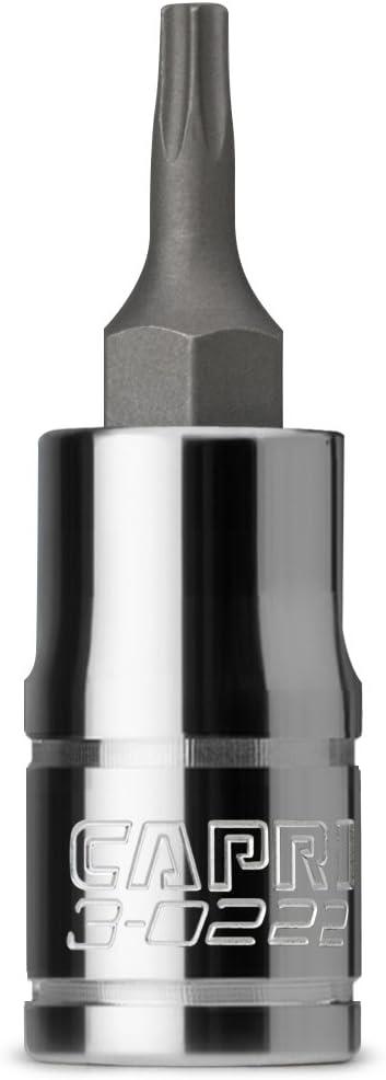 Capri Tools T20 Star Bit Socket 1//4-Inch Drive