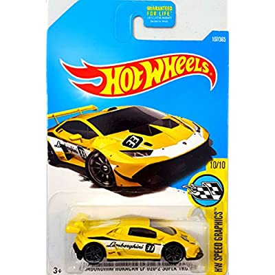 Hot Wheels Lamborghini Huracan LP 620-2 Super Trofeo Yellow and Green Bundle: Toys & Games