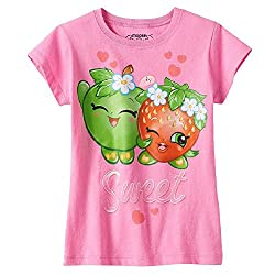 Shopkins Little Girls' Apple Blossom and Strawberry Kiss Tee (5)