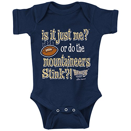 Smack Apparel Pittsburgh Panthers Fans. is It Just Me or Do The Mountaineers Stink Onesie (NB-18M) or Toddler Tee (2T-3T) (NB Onesie)