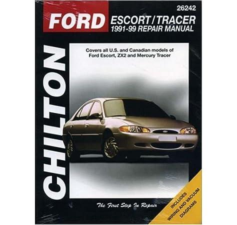 [ZHKZ_3066]  Ford Escort and Tracer, 1991-99 (Chilton Total Car Care Series Manuals):  Chilton: 9780801990984: Amazon.com: Books | 1991 Mercury Tracer Diagram Wiring Schematic |  | Amazon.com