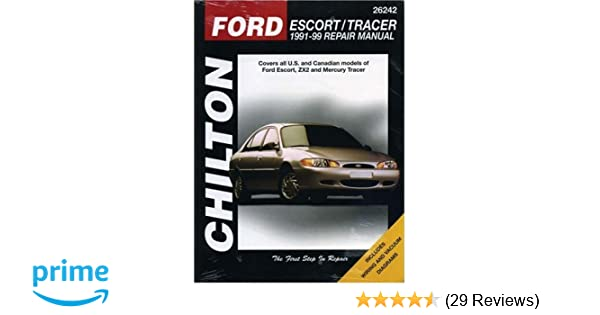 ford escort and tracer 1991 99 chilton total car care series rh amazon com