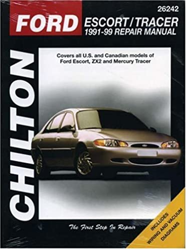 ford escort and tracer 1991 99 chilton total car care series rh amazon com 99 Ford ZX2 Motor
