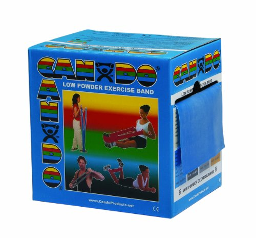 Heavy Powder - CanDo Low Powder Exercise Band, 50 yard roll, Blue: Heavy