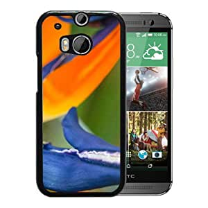 New Custom Designed Cover Case For HTC ONE M8 With Bird Of Paradise Flower Mobile Wallpaper Phone Case