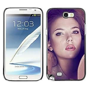 GIFT CHOICE / SmartPhone Carcasa Teléfono móvil Funda de protección Duro Caso Case para Samsung Note 2 N7100 /SEXY SCARLETT JOHANSSON/