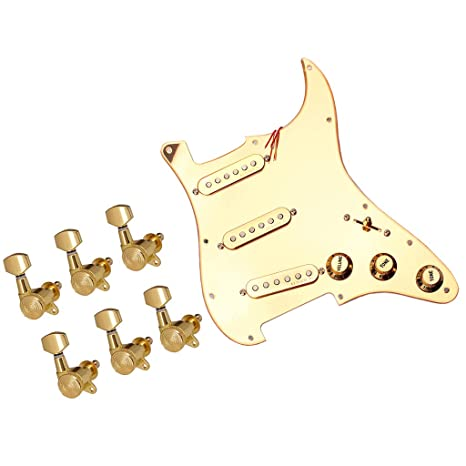 Sharplace 1x Pickguard de Guitarra 6x Clavija de Afinación Gear ...