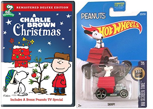 A Charlie Brown Christmas with Hot Wheels Snoopy Car Bundle ()