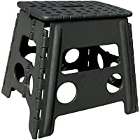 Folding Step Stool -13″ Height - Holds up 300 Lbs Lightweight Foldable Stepping Stool is Sturdy Enough to Support Adults & Safe Enough for Kids. Skid Resistant and Open with one flip (13'' Army Green)