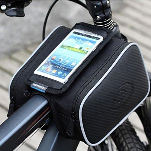 Fahrrad-Lenkerhalterung Tasche Pannier Sattelhalter Satteltasche Frontrahmen Für Telefon Handy