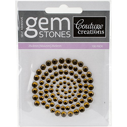 Couture Creations Self-Adhesive Gemstones 100/Pkg-Vintage (Couture Gem)