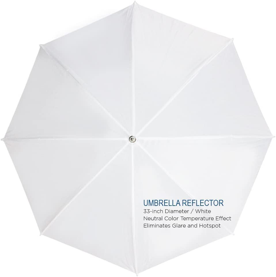 Photo Studio LimoStudio White Umbrella Reflector Photography Video Studio Continuous Lighting Kit Carry Bag AGG2102 Light Stand Tripod Photo Bulb and Socket with Umbrella Insert Hole