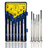 6Pcs Mini Screwdriver Set, Precision Repair Tool Kit with 6 Different Size Flathead and Philips Screwdrivers, Ideal for Eyeglass, Watch, Jewelers, Electronic Devices, Game Controllers, DIY Projects