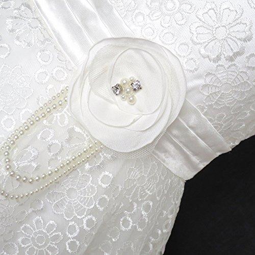 Bordo Formato Pizzo In Vestito Fiore Comunione 3 Il Da Bianco Ragazze 14 Sposa Di Prima 6 Anni UqR4x0w