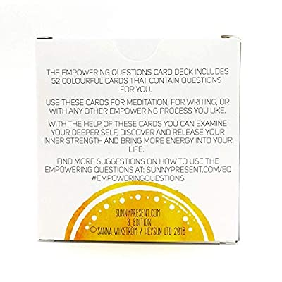 Sunny Present Empowering Questions Cards - 52 Cards for Mindfulness & Meditation, Writing, or Any Other Empowering Process - The Original Deck: Toys & Games