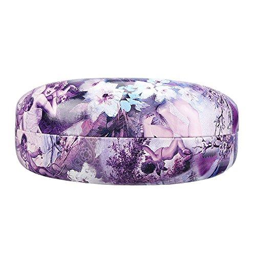 Molshine Hard Shell Sunglasses Case,Classic Extra Large Case for Oversized Sunglasses and Eyeglasses (Purple - Glasses Angel Sun