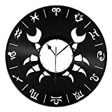 VinylShopUS Cancer Unique Zodiac Fashioned Vinyl Wall Clock For Room Decorative | Home Decoration