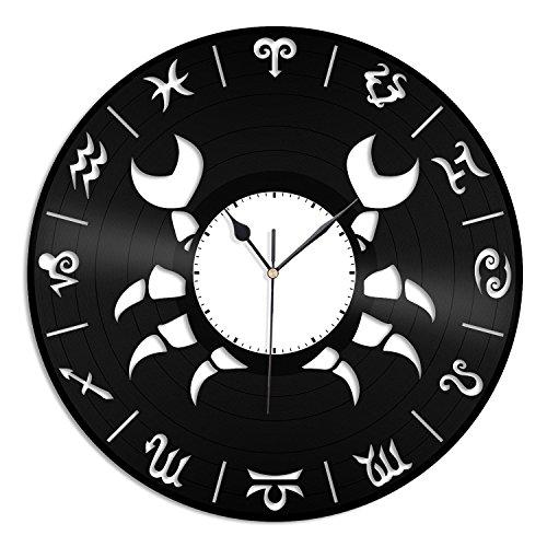 VinylShopUS Cancer Unique Zodiac Fashioned Vinyl Wall Clock For Room Decorative   Home Decoration by VinylShopUS