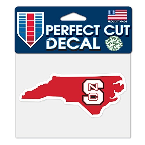 """NC State - North Carolina State Wolf Pack NCAA 4""""x5"""" Perfect Cut State Decal"""