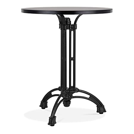 Alberto Cast Iron Cafe Table Base, Black Finish