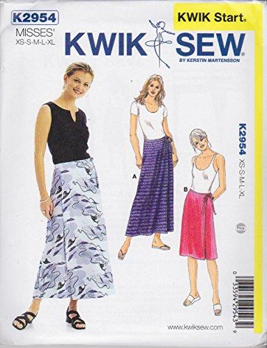 Kwik Sew K2954 Wrap Skirts Sewing Pattern, Size XS-S-M-L-XL (Pattern Around Wrap Skirt)