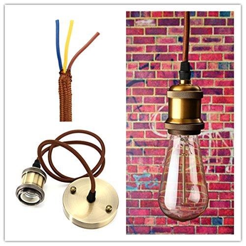 KINGSO E27 Lamp Socket Copper Vintage Retro Antique Edison