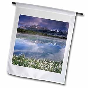Danita Delimont - Mountain Lakes - Alberta, Banff National Park. Lake Maligne wildflowers-CN01 GJE0000 - Gavriel Jecan - 18 x 27 inch Garden Flag (fl_73760_2)