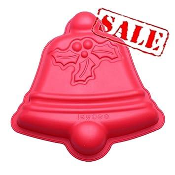 Molde de silicona para tartas con forma de campana de Navidad, antiadherente, para hornear