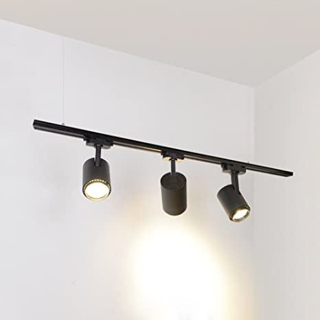 Riel - Lámpara plafón con 3 móviles 30 W LED Focos - 1 M ...
