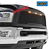 2015 ram grill - EAG Replacement ABS Grille - Matte Black - With Amber LED Lights for 13-17 Dodge Ram 2500/3500