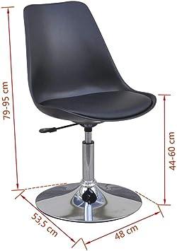 vidaXL 4X Chaise de Salle à Manger Pivotante Réglable Noir Chaises de Cuisine
