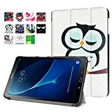 Samsung Galaxy Tab A 10.1 Cover Case (SM-T580/SM-T585) - Slim Lightweight Standing Custom Fit Cover [Auto Sleep / Wake up] for Tab A 10.1 Inch Tablet (cute owl)