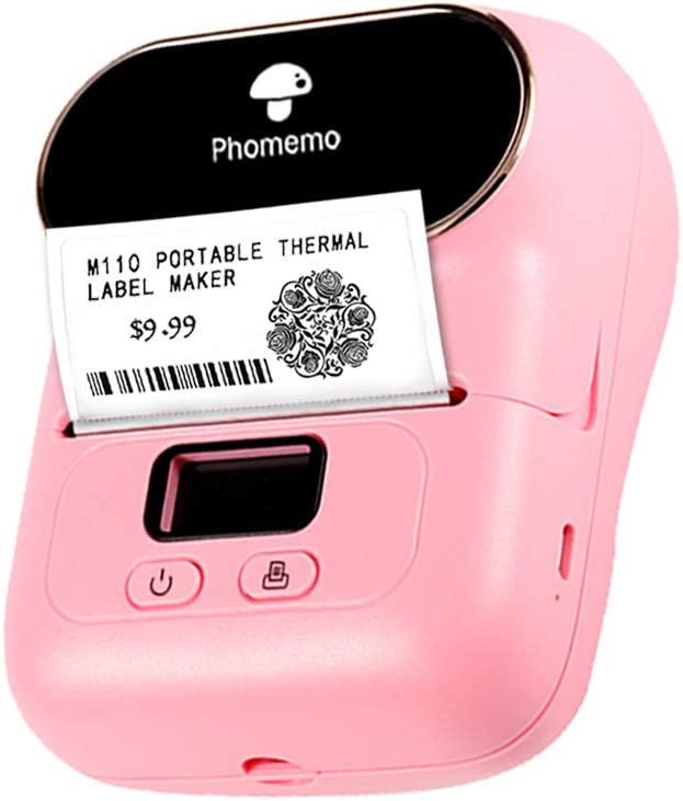 Phomemo M110 Bluetooth Label Maker - Portable Wireless Label Printer Thermal Barcode Label Printer, Apply to Labeling, Office, Cable, Retail, Barcode and More, Compatible for Android & iOS System