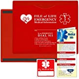 StoreSMART - Vial/File of Life: Medical Info Pocket - Letter Size - Magnetic Back - 5-Pack - Red - VOLFJ85PQRM