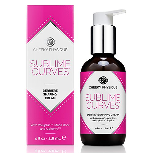 Sublime Curves Derriere Shaping Cream - Butt Lifting & Firming Formula with Voluplus + Maca Root + Uplevity Peptide - 4 oz. by Cheeky Physique