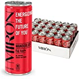 Miron Energy, Fuji Apple, All Natural, Made with Caffeine from Green Coffee beans + Cane Sugar 8.4 Fl.Oz. Cans (Pack of 24)