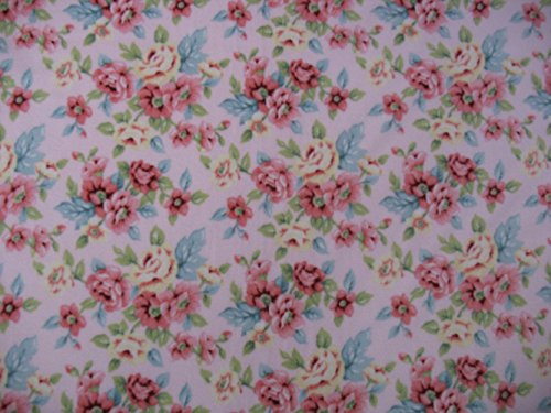 Rose Floral Pink Fleece Throw Blanket