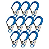 Fusion Climb Poseidon II Aluminum Stainless Steel Gate Drop Forged Rebar Hook 10-Pack