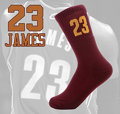 No.23 Kaifei Mens Socks Cotton Athletic Crew Socks