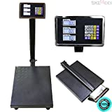 SKEMIDEX---New 600LB Weight Computer Scale Digital Floor Platform Shipping Warehouse Postal And postal scale walmart digital table top weighing scale table top weighing scale price shipping scale