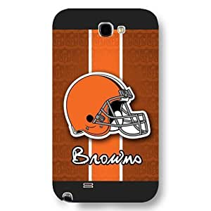 UniqueBox Customized NFL Series Case for Iphone 5/5S, NFL Team Cleveland Browns Logo Iphone 5/5S, Only Fit for Iphone 5/5S (Black Frosted Shell) WANGJING JINDA