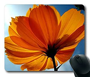Orange Flower With Sky Rectangle mouse pad Diy Design