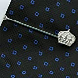 ZAUNICK Crown Tie Clip Sterling Silver