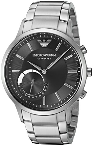 Emporio Armani Connected Hybrid Smartwatch Mens ART3000 Silver