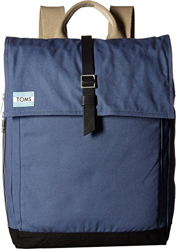 TOMS Unisex Utility Canvas Backpack Dark Blue Backpack